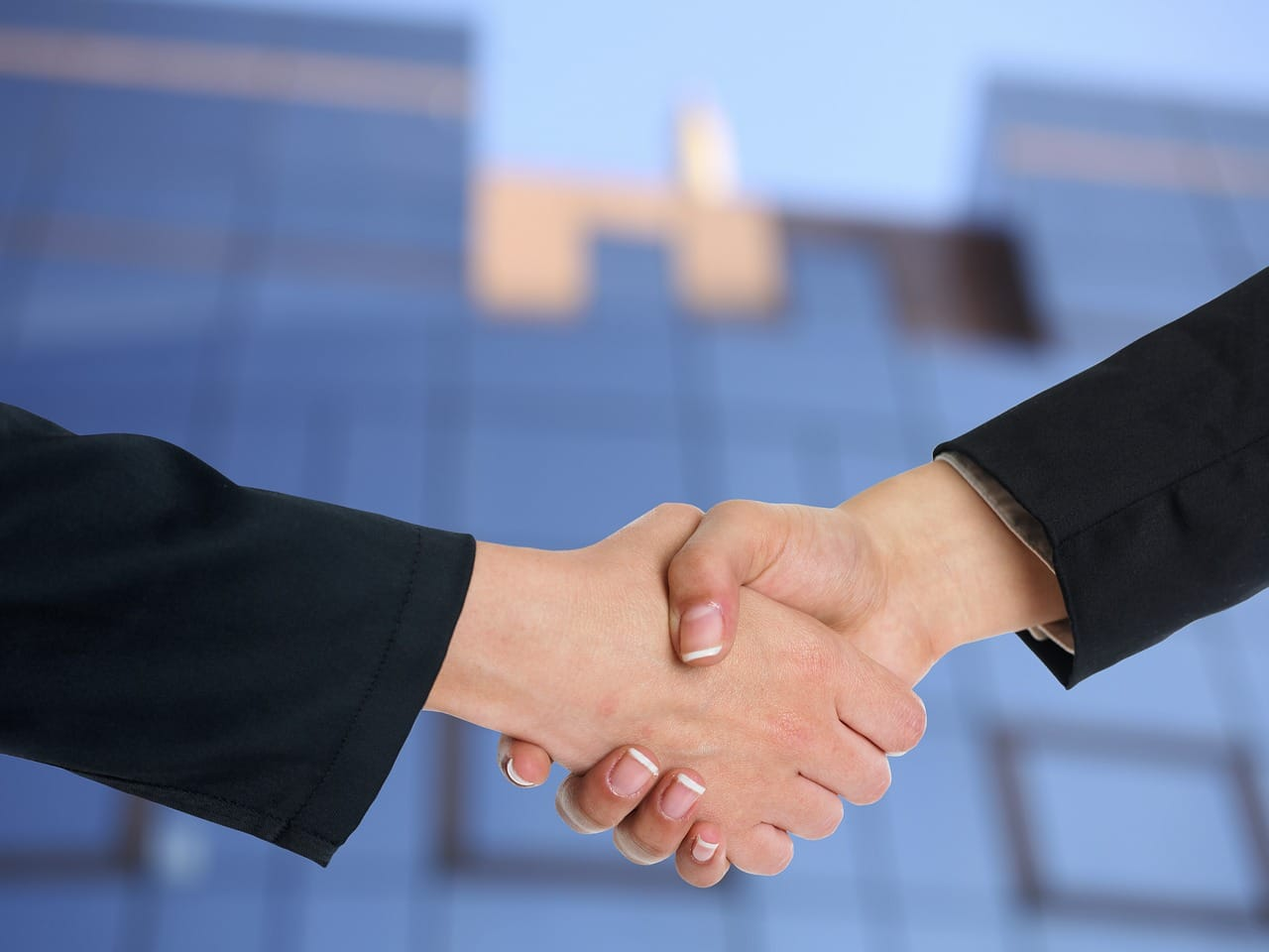 two persons on handshakes