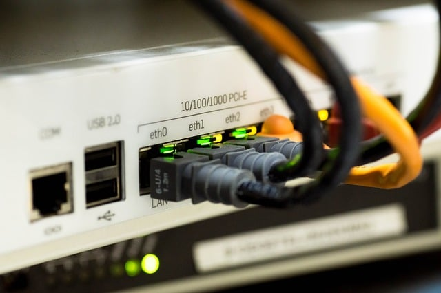 a router with various connections to a computer network